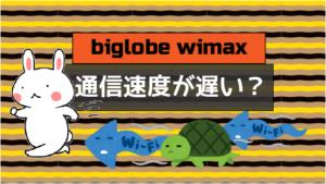 ビッグローブ wimaxは通信速度が遅い?