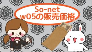 So-netのw05の販売価格