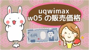 uqwimax でのw05の販売価格