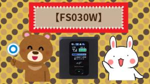 【FS030W】