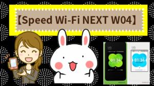 【Speed Wi-Fi NEXT W04】