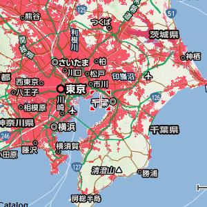 ソフトバンクエアーの対応エリア(関東)