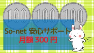 So-net安心サポート:月額300円